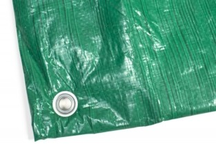 Тент универсальный 4 x 6 м «политарп 90», с люверсами (тарпаулин, хаки