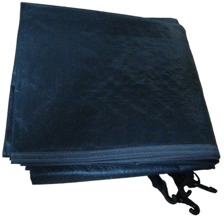 "Тент защитный 3 х 4 м ""политарп 280"", с люверсами (тарпаулин, синий/че"