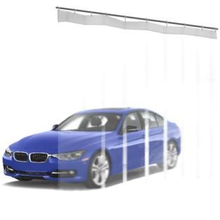 Шторы ПВХ для автомойки полностью прозрачная 1м³
